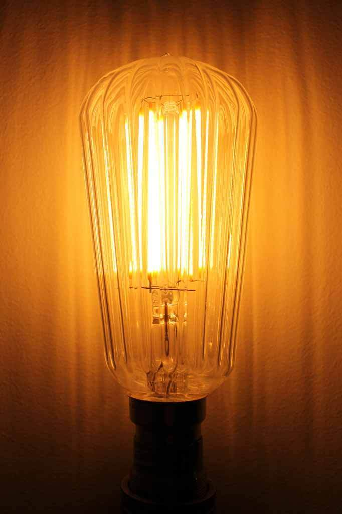 Led filament bulbs waterfall teardrop 6w 2200k