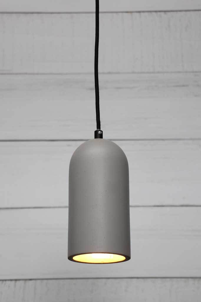 Large hoover concrete pendant with modern industrial style