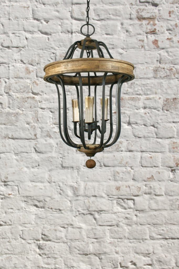 Large and rustic these steel and wood lanterns are reminiscent of old fashioned sophistication and are the perfect choice for a farmhouse cottage or breezy coastal style
