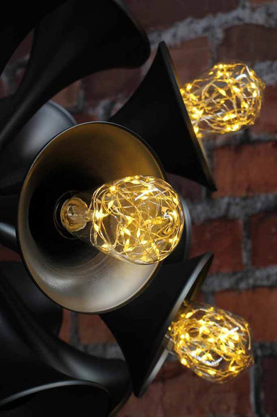Large multi light pendant. mid century modern and industrial design. with led light bulbs. online lighting
