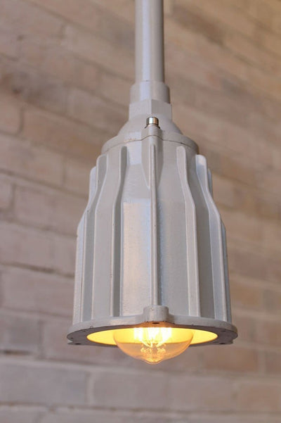 Marine industrial pole pendant with edison bulb