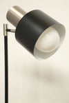 Matt black floor lamp. reading nook lighting. retro mod floor light