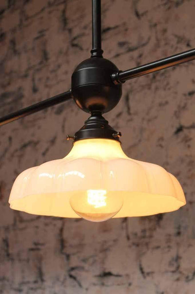 Mayflower 3 light glass pendant exudes warm elegance. great for vintage home decor.