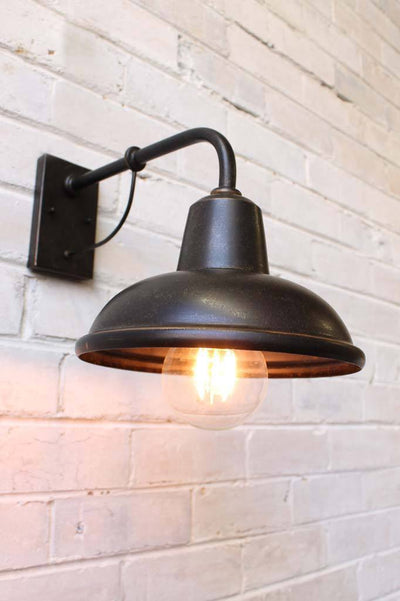 Metal bronze wall light
