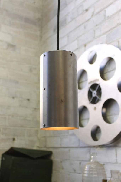 Metallic pendant light. industrial lighting by fat shack vintage.