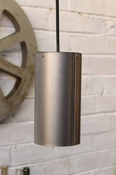 Metallic pendant light. rolled metal pendant light