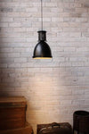 Mill pendant light in industiral vintage setting