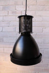 Mill pendant light with matt black finish