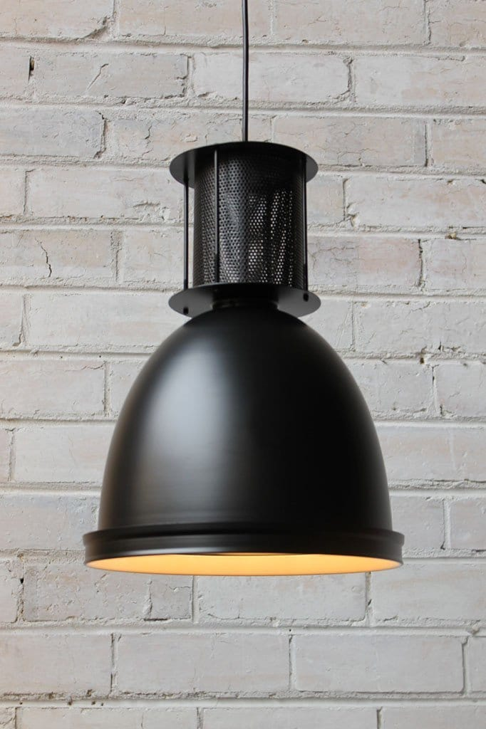 Mill pendant lights in matt black