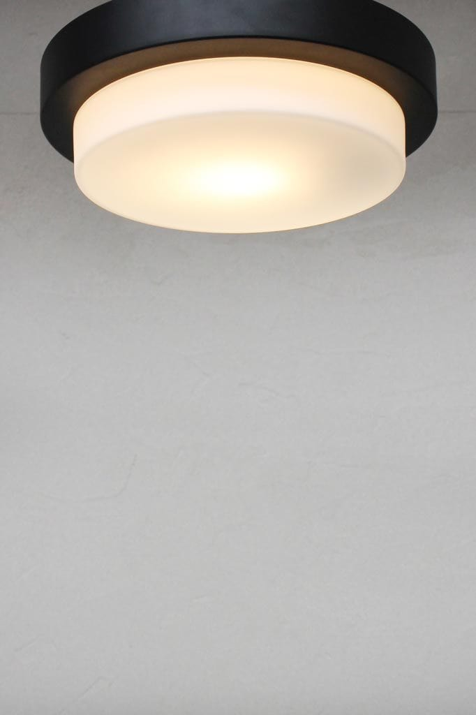 Opal glass black frame light shade