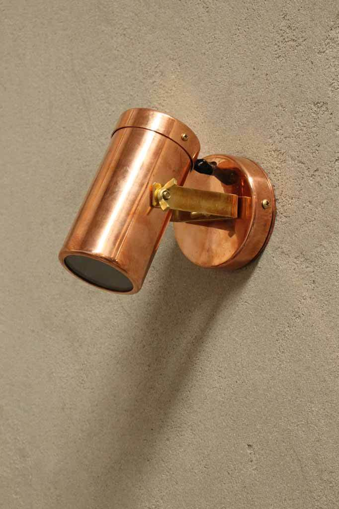 Polished Copper Outdoor Spotlight