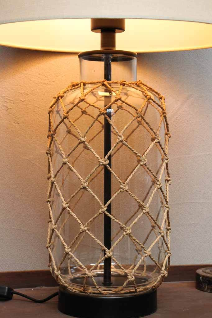 Nautical style table lamp. oversized table lamp. beige shade table lamp.