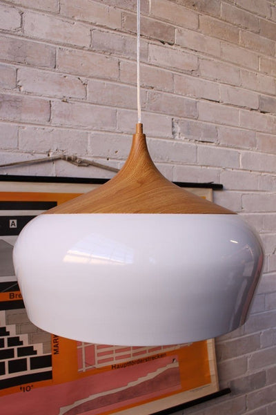 Nordic pendant light large with oak top