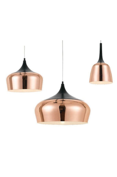 Nordic pendant lights in three sizes and in copper finishes