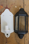 Old town wall light housing cover in black
