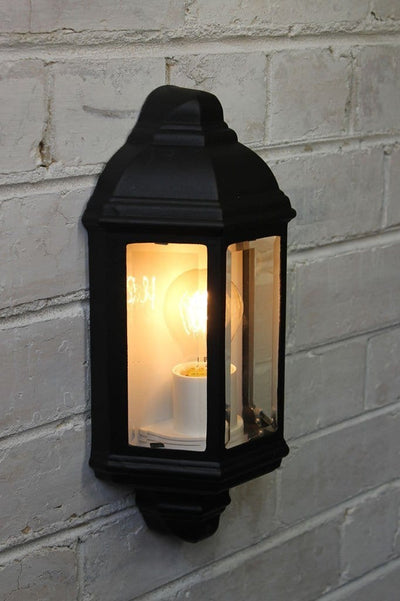 Old town wall light with edison bulb