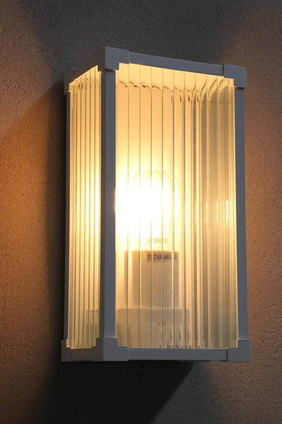 Outdoor entertaining area lighting.  . box wall light