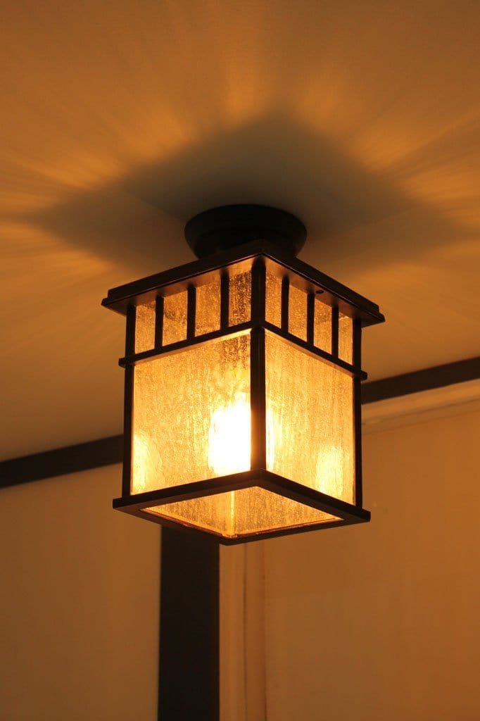 Outdoor flush mount light. vintage style lighting. outdoor lighting for homes