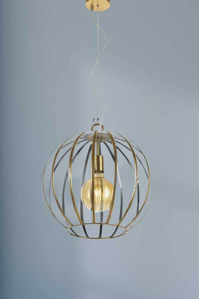 P459 large gold pendant light antique vintage retro lighting bedroom kitchen interior inspiration buy online