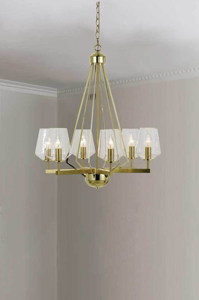P463 6 light pendant brass pendand light brass lighting