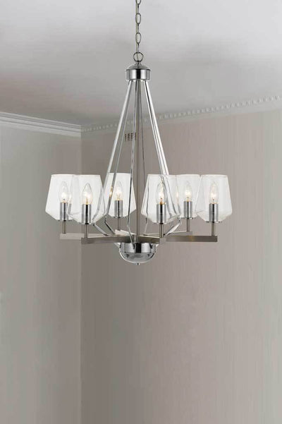 P463 6 light pendant nickel pendand light nickel lighting