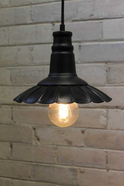 Petticoat pendant light ideal for cafe lighting restaurants or commerical lighting projects