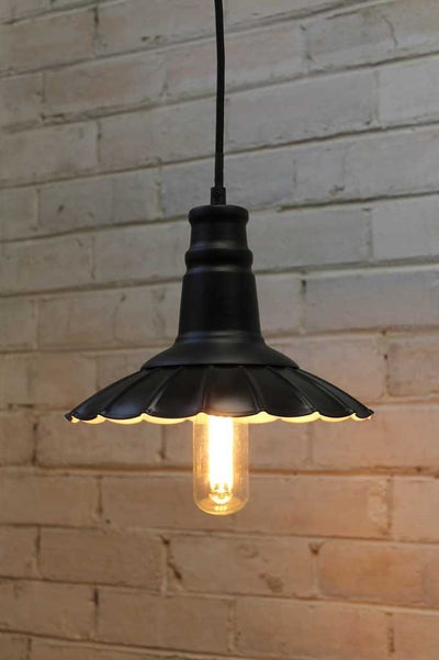 Petticoat pendant light with led light bulb ideal for kitchen island lighting