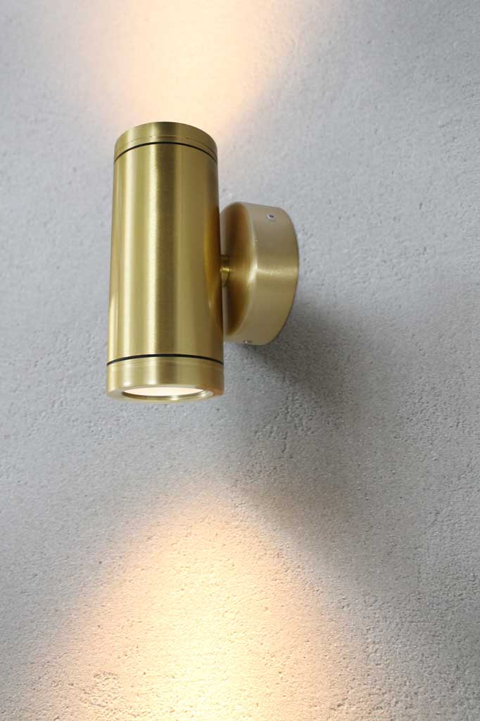 Polished brass up down spotlight