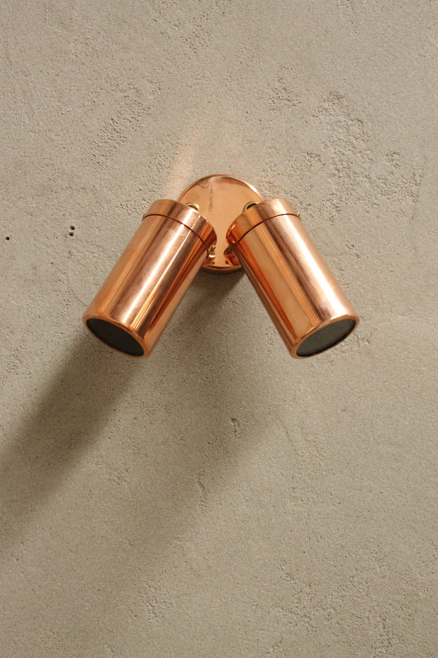 Copper Outdoor Twinlight Spotlight