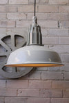Pumphouse pendant light in white