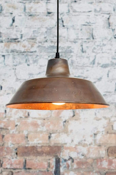 Pure copper pendant shade