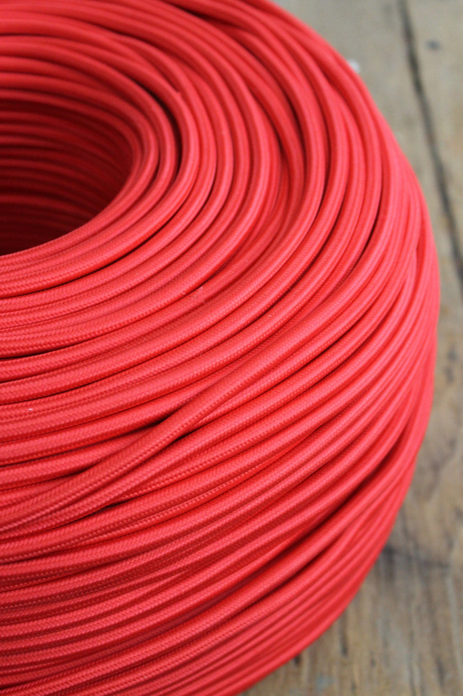 Red braided light cord