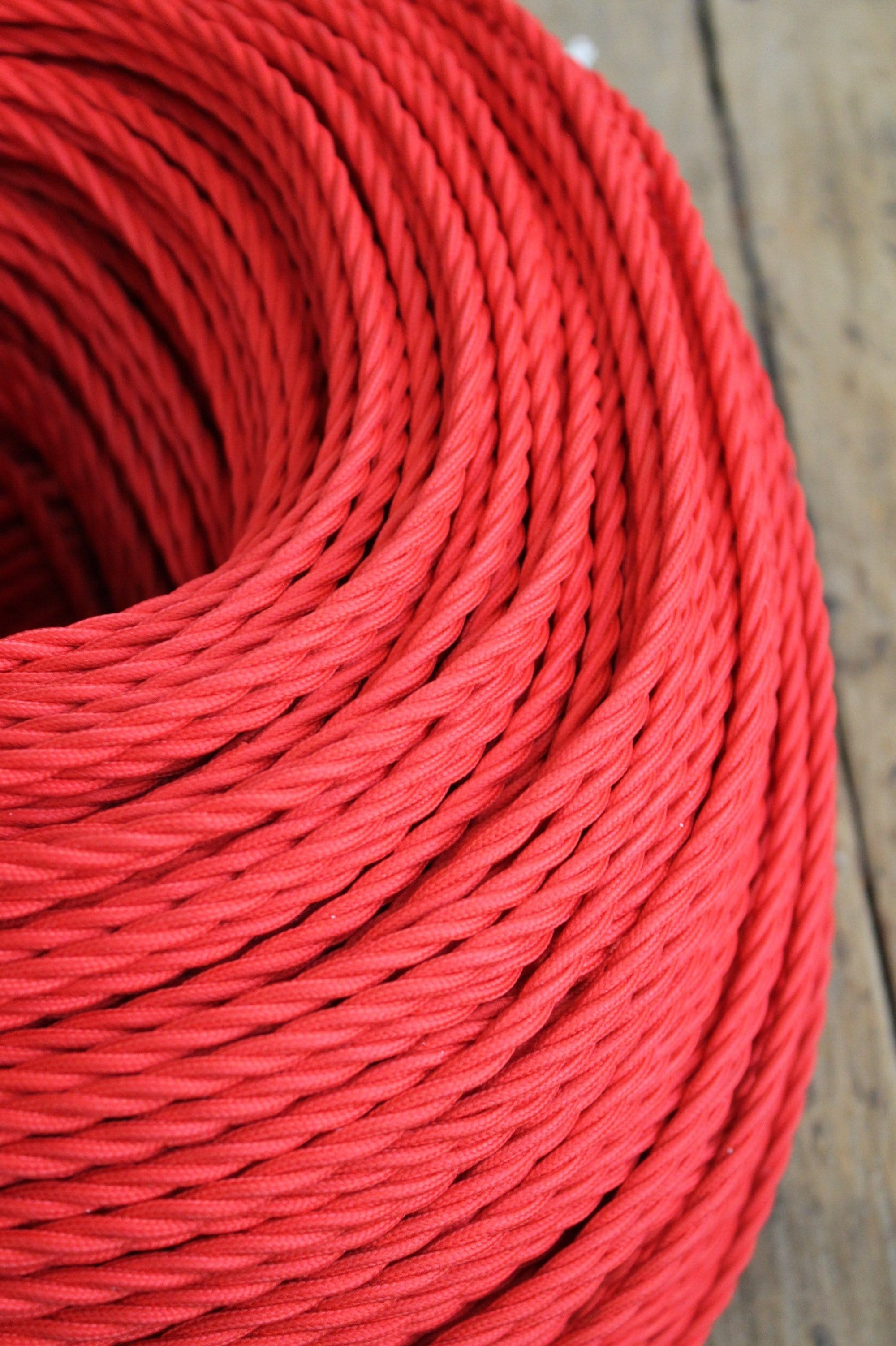 Red twisted braid cord