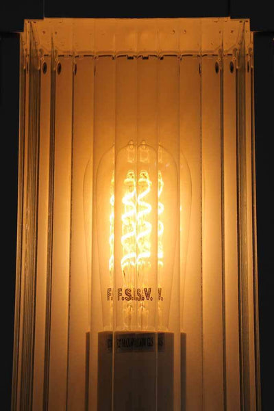 Ribber glass diffuser. front door lighting. exterior wall light