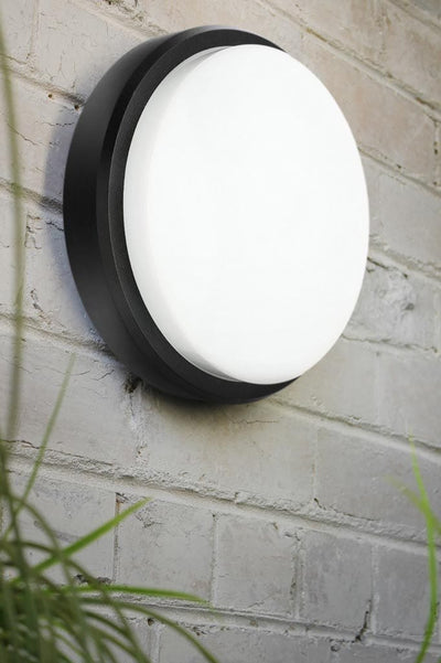 Round modern outdoor LED bunker light