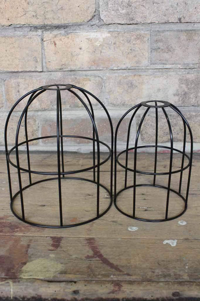 Round cage shade large and small black