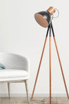 Scandinavian influenced design. tripod floor lamp