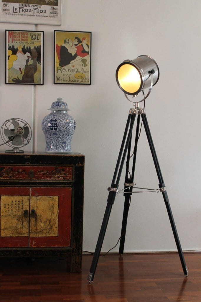 Search light tripod floor lamp