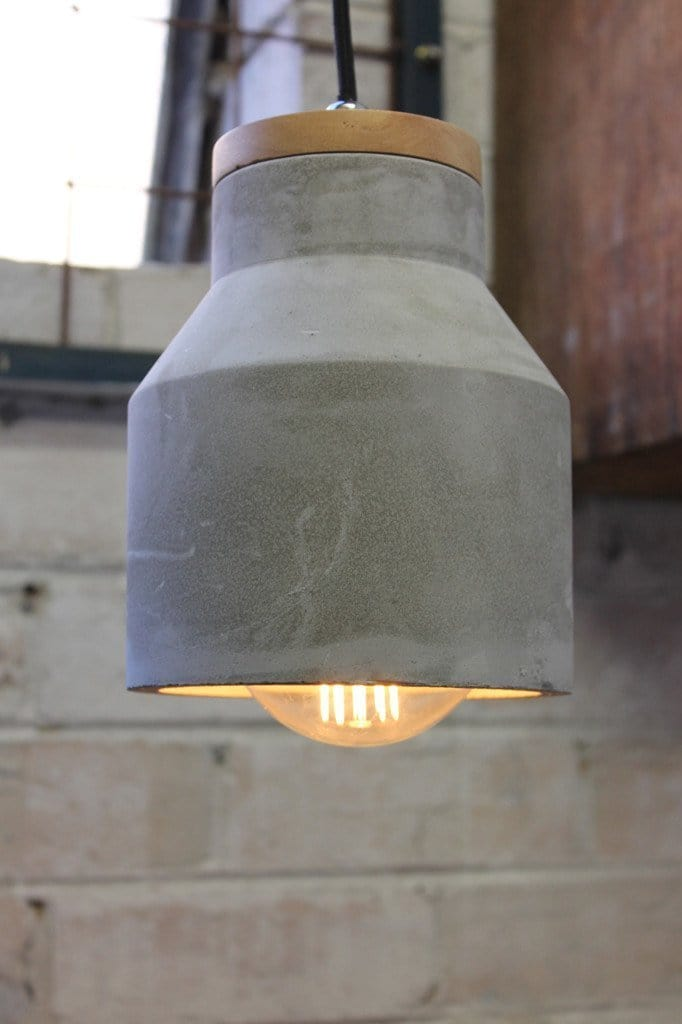 Concrete Timber Pendant