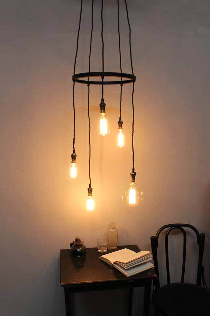 Pendant cords with ceiling rose for 5 pendant lights