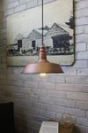 Station pendant light in matt copper