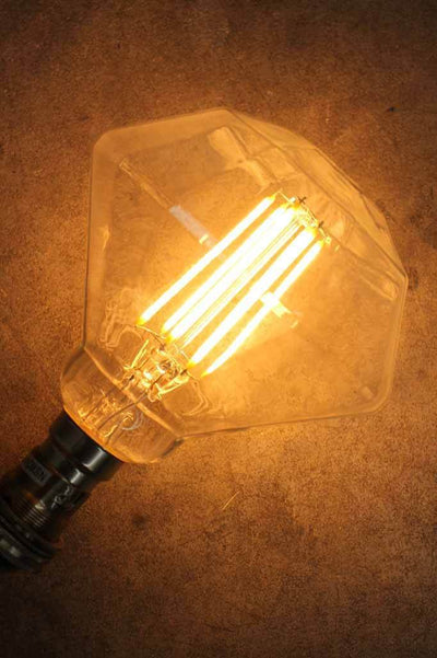 Stylish decorative designer bulb. dimmable led filament bulbs. diamond light bulb ideal in retail stores cafes and restaurants as well as beloved bedrooms kitchen or work spaces