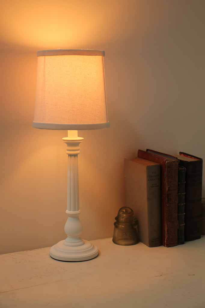 T088 carmel white table lamp vintage light bedside lamps traditional lighting interior