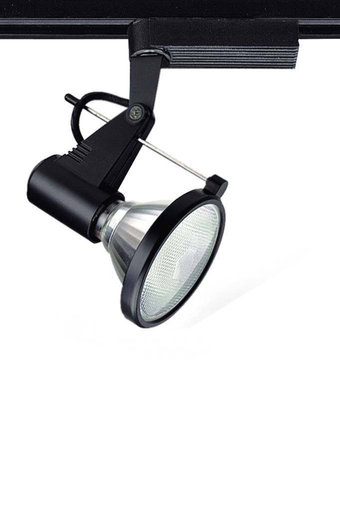 Black LED track light