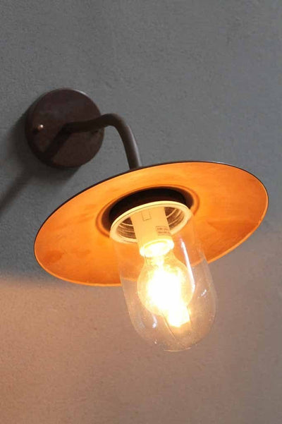 The copper cabin wall light makes great beachside or coastal decor