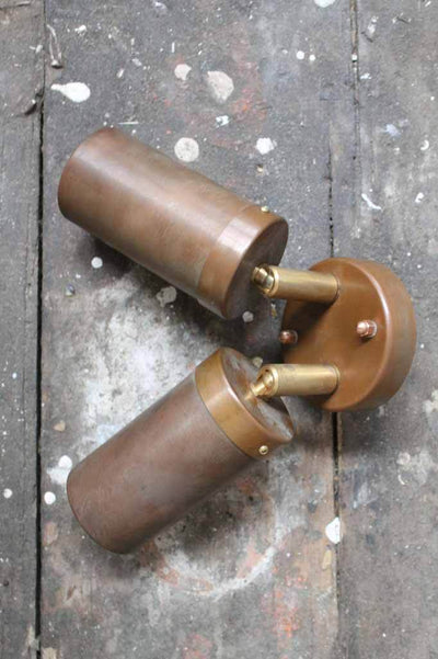 The copper outdoor double spotlight has an IP44 weather resistance rating making it a great indoor or outdoor light