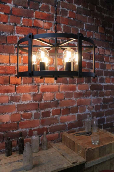 The steampunk drum light s two sizes hang fittingly in a variety of areas. online lighting Melbourne