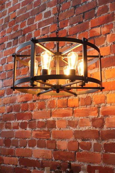 The steampunk drumlight makes a strong and expansive statement or more compact edge. ideal through hallways or cafes.