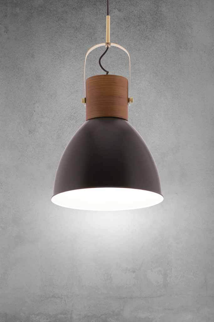 This scandinavian styled ceiling light has a clean contemporary feel with subtle industrial elements.