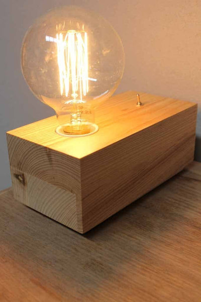 This minimalist timber table lamp could easily be incorporated into a wide range of interior decor s from modern living minimalist bedroom or a Scandinavian interior